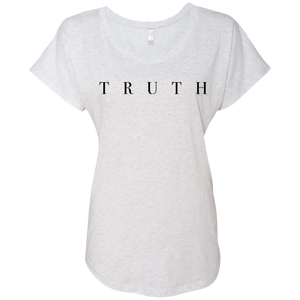 Truth Black Next Level Ladies Triblend Dolman Sleeve