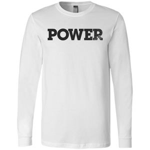 Power Black Bella+Canvas Men's Jersey Long Sleeve