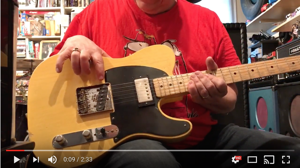 Sheptone Alnico 2 Tele Bridge and Tribute Neck Demo