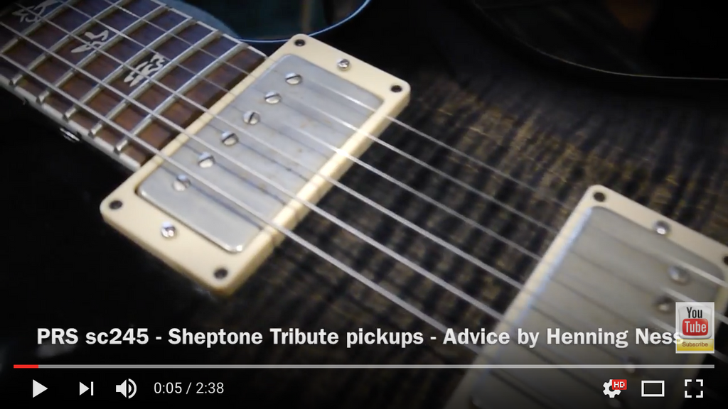Your PRS Guitar Needs A Set of Sheptone Tribute Pickups