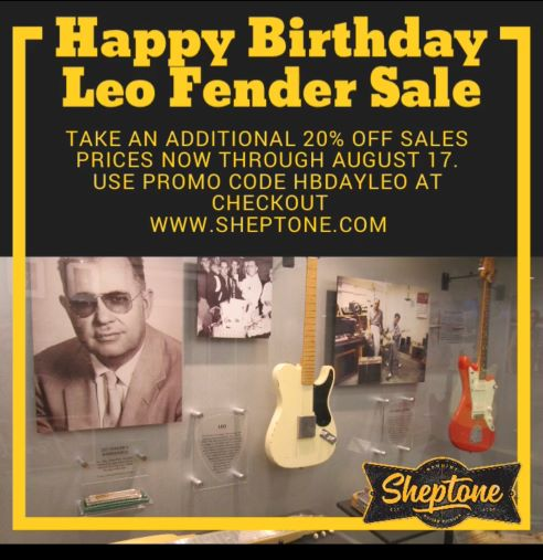 Happy Birthday Leo Fender Sale