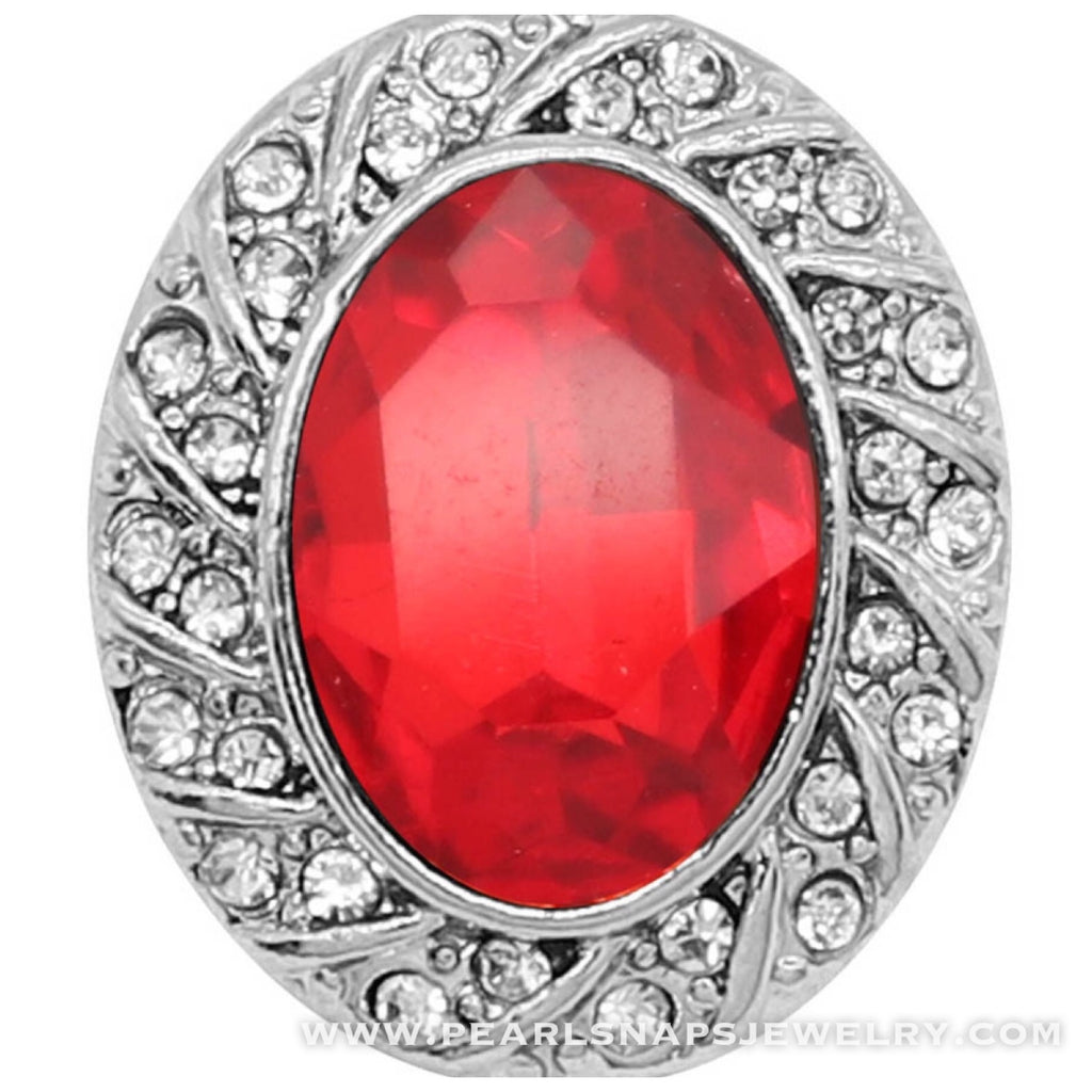 Carlton Oval Bling Snap Red