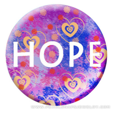Hope and Hearts Painted Ceramic Snap
