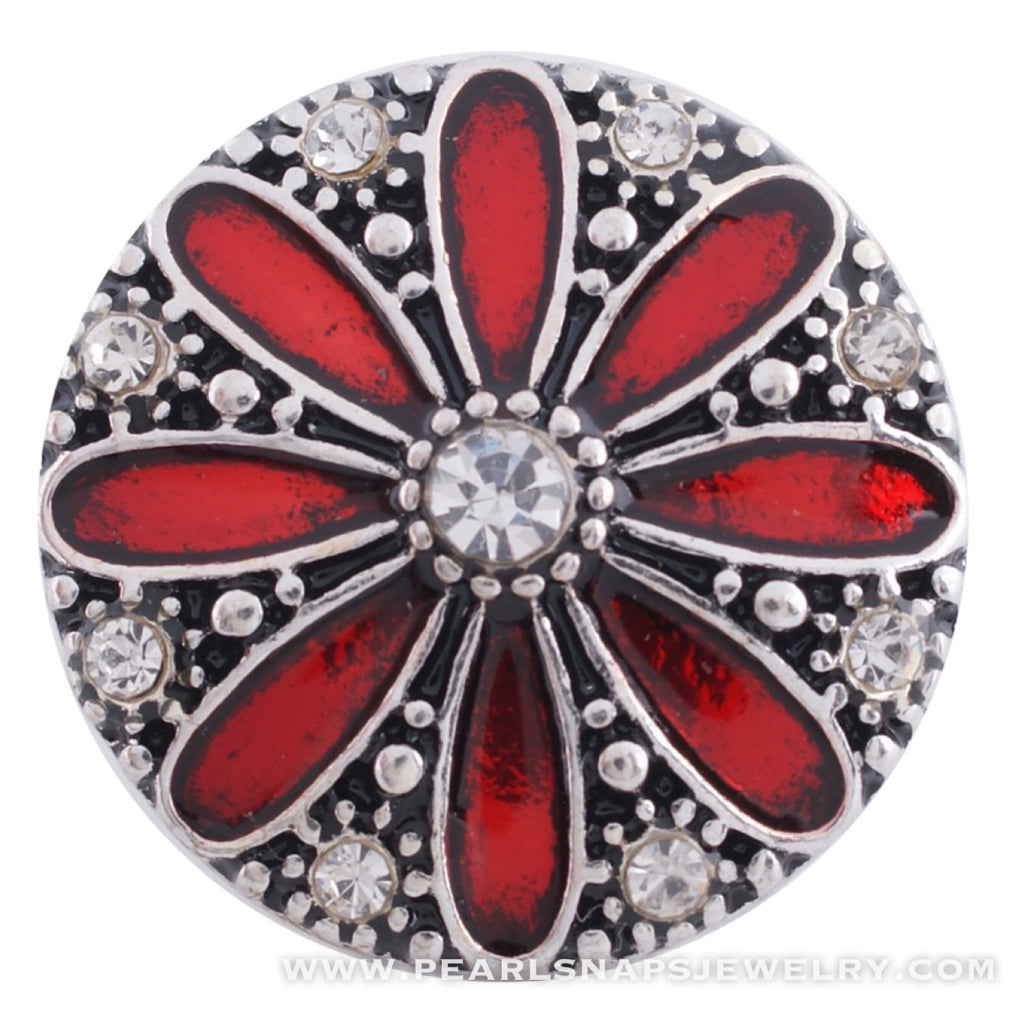 Daisy Bling Snap Red