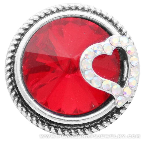 Heart of Jewels Snap Ruby Red