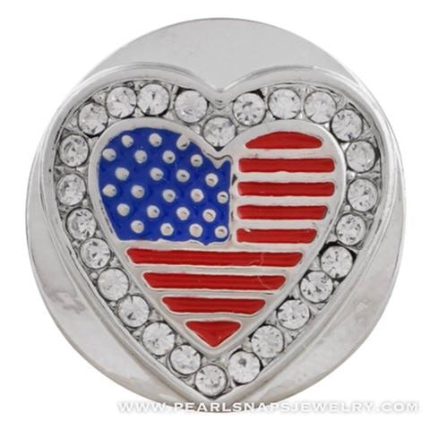 Love America Bling Snap Red