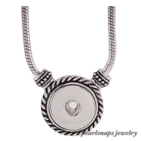 "Madison 18"" Silver tone Toggle Necklace"