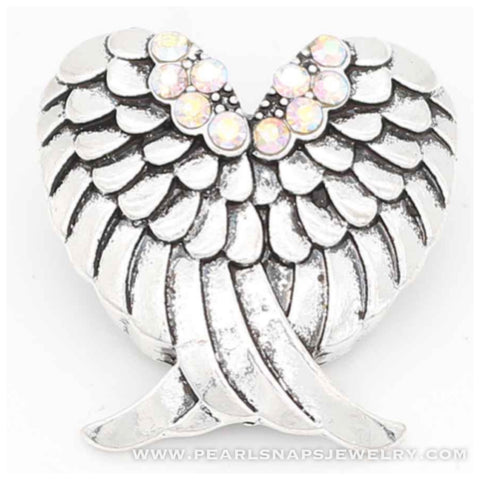 Angels Wings Bling Snap White Ice