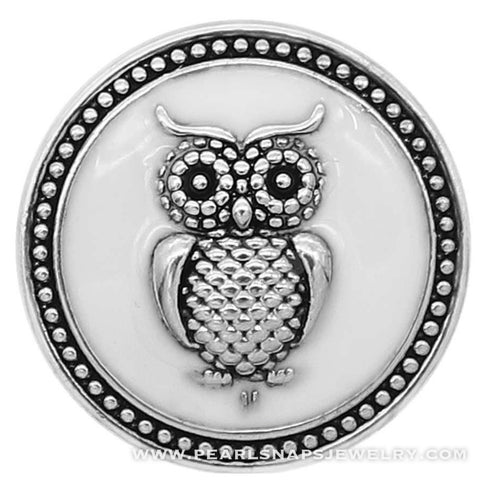 Lovely Owl Snap White
