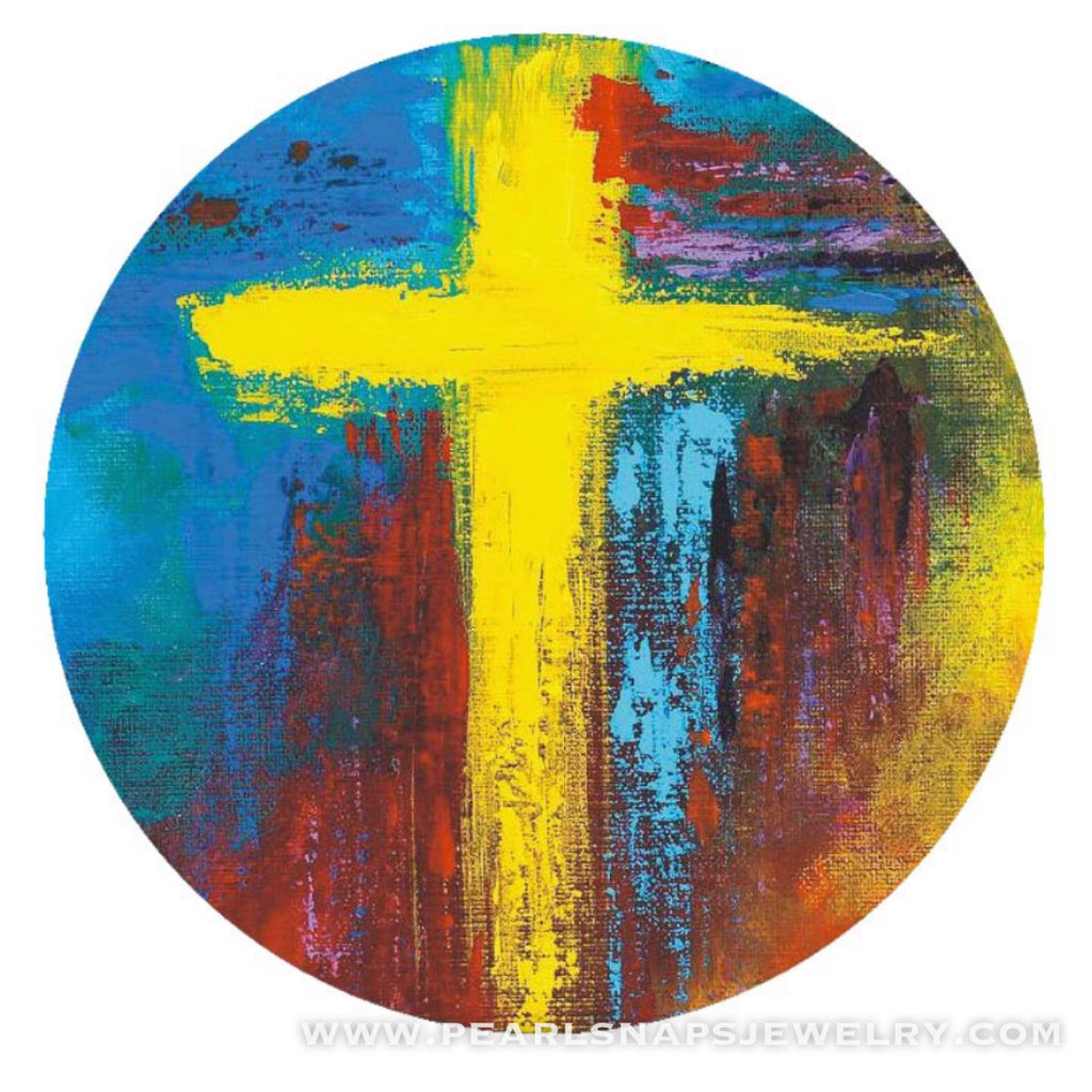 Light of the World Painted Ceramic Cross Snap