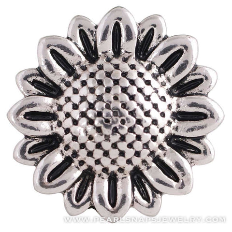 Sunflower Metal Snap