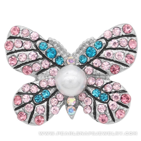Island Butterfly Jewel Snap Pink