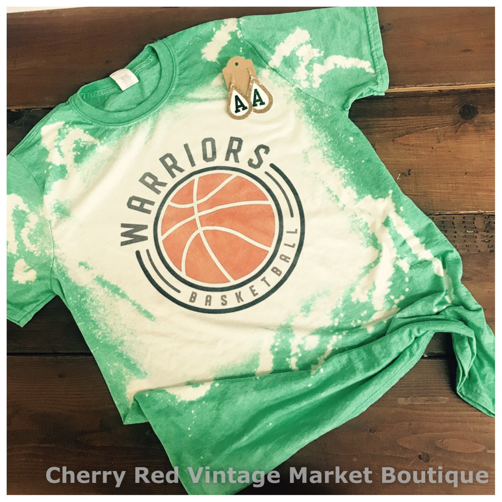 Okie Whimsy BLEACHY WARRIOR BASKETBALL Tee