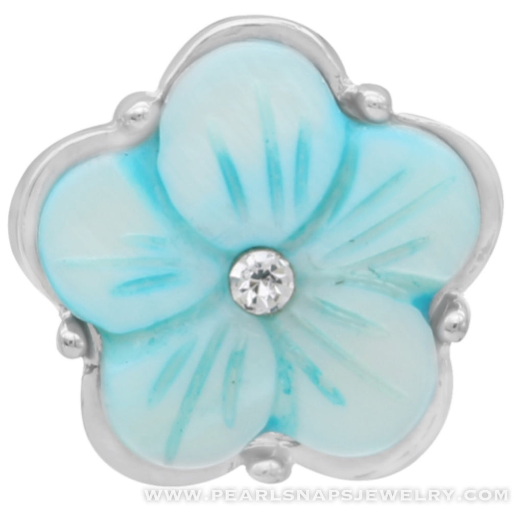 Leta's Bouquet Jewel Center Snap Turquoise