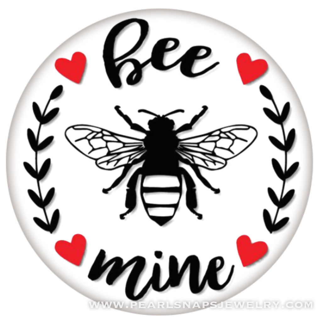 Bee Mine Pained Ceramic Valentine Snap