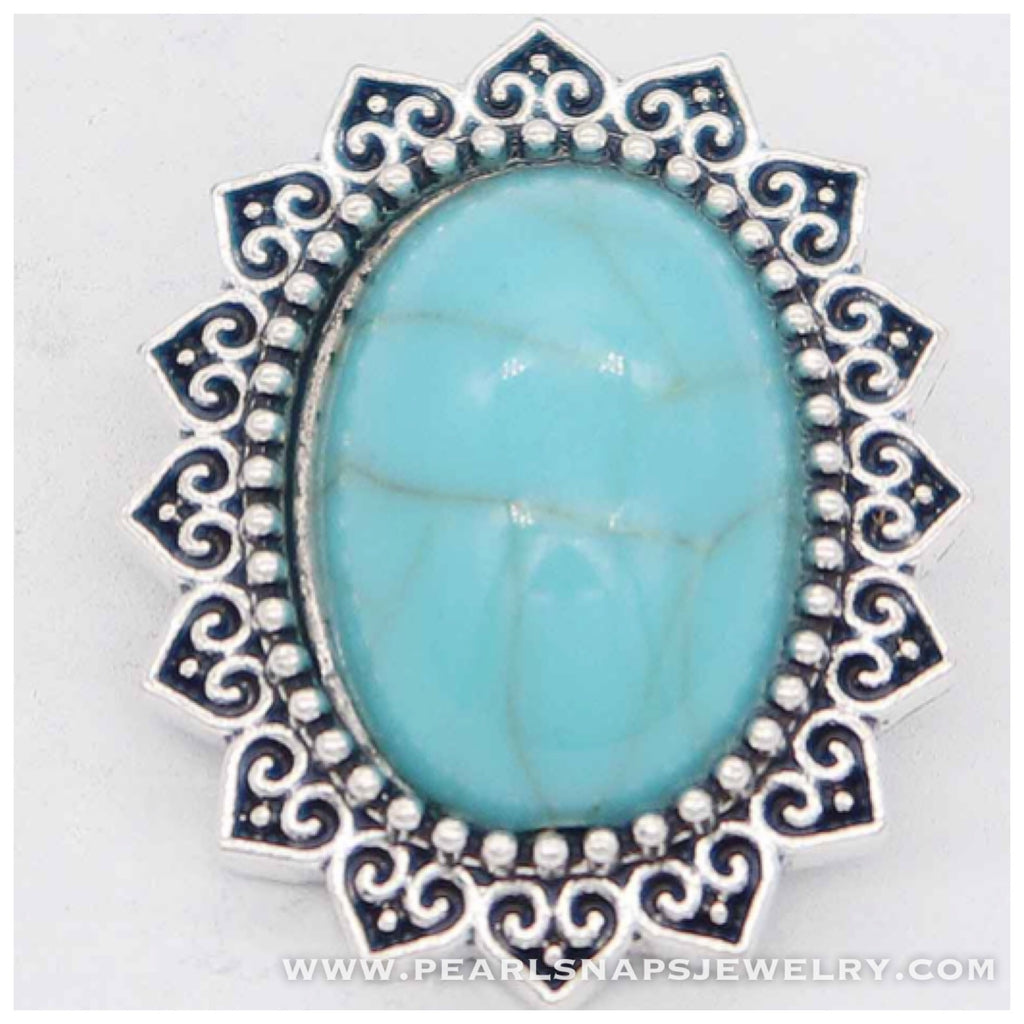 Madrid Turquoise Oval Snap