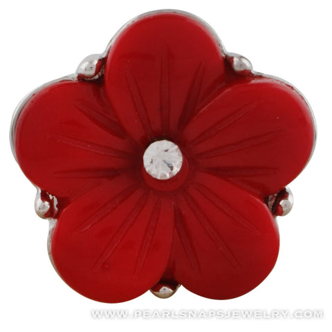 Leta's Bouquet Jewel Center Snap Red