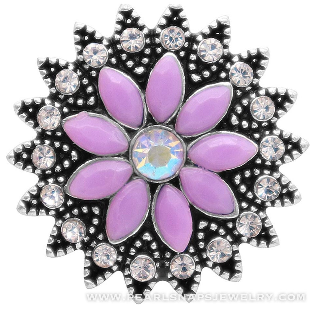 Hiawatha Bling Floral Snap Purple
