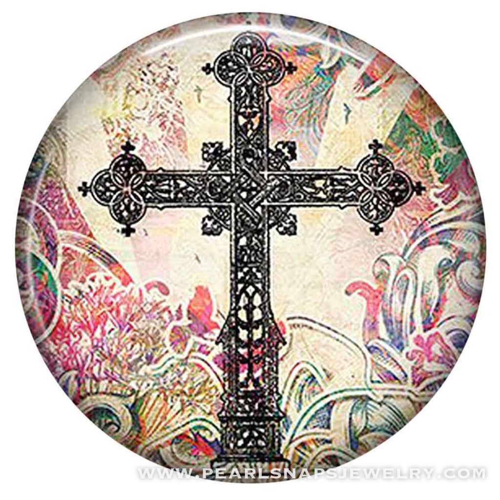 In the Garden Painted Ceramic Cross Snap