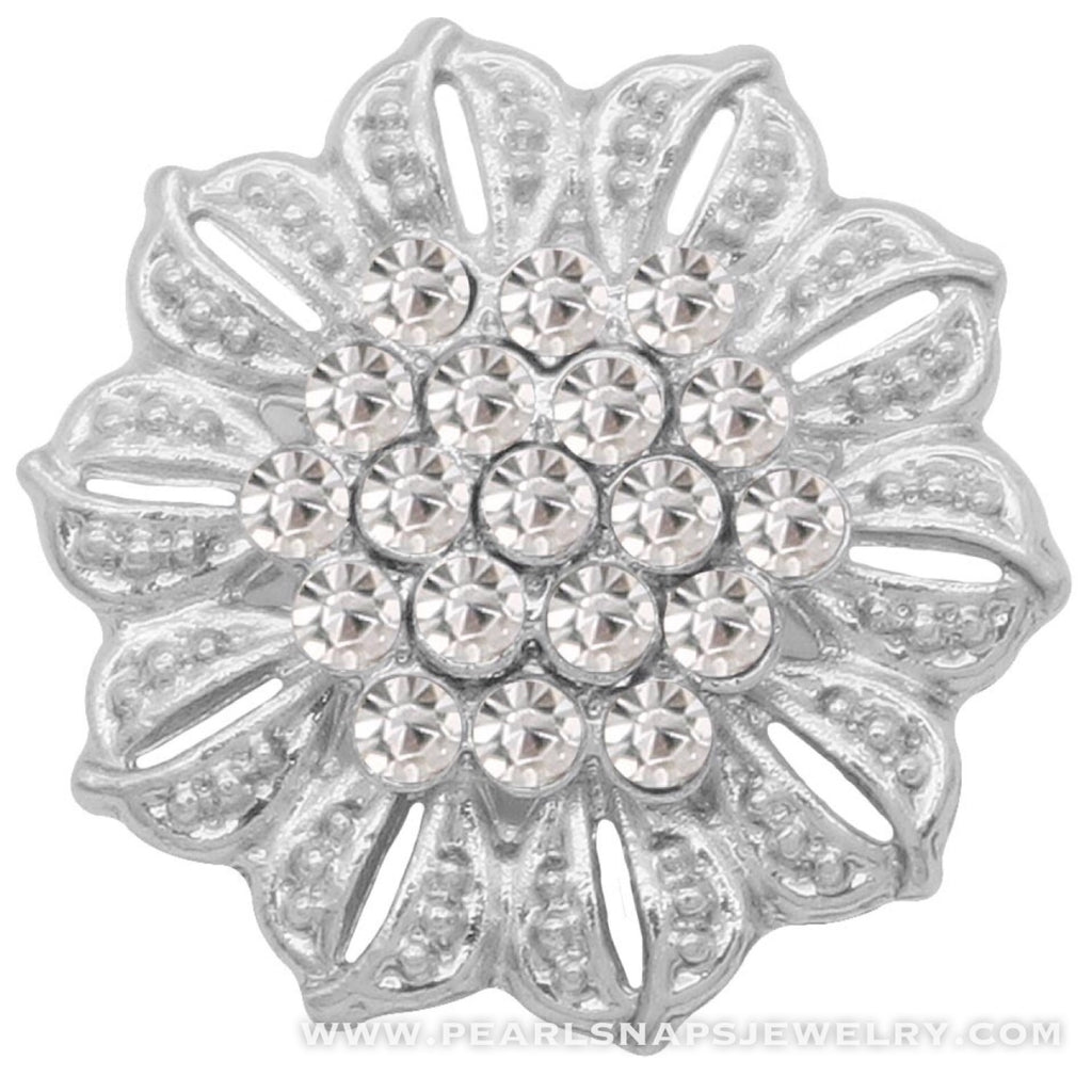 Modern Muse Bling Snap White Crystal