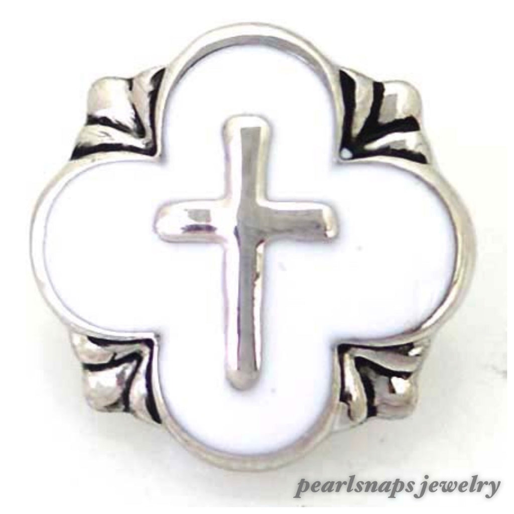 Cross Enamel White Snap