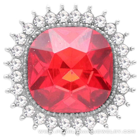 Ardent Square Bling Snap Red