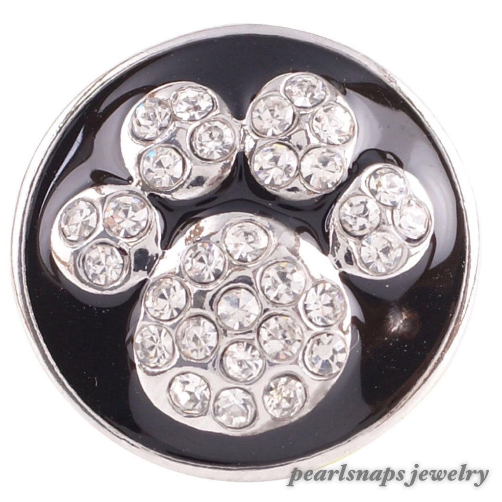 Animal Paw Bling Snap BLACK