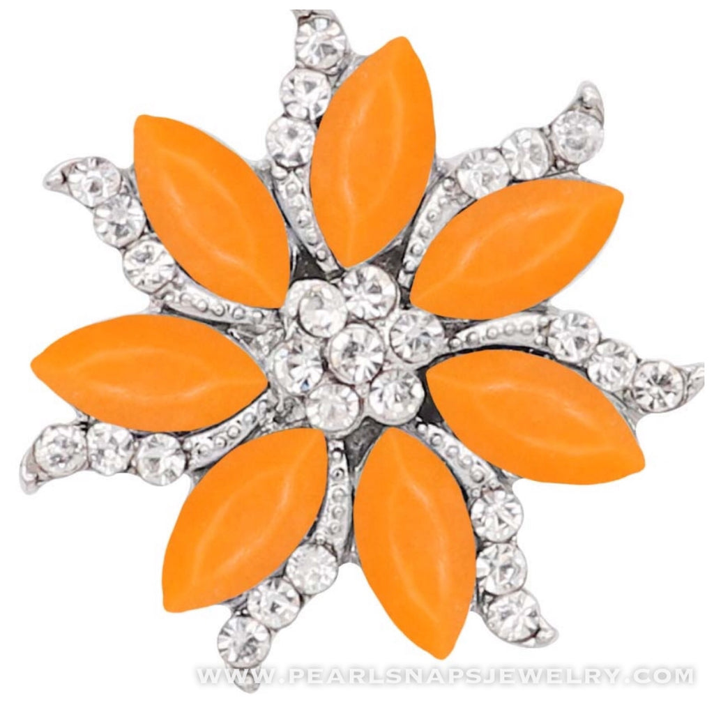 Idlewild Bling Floral Snap Orange