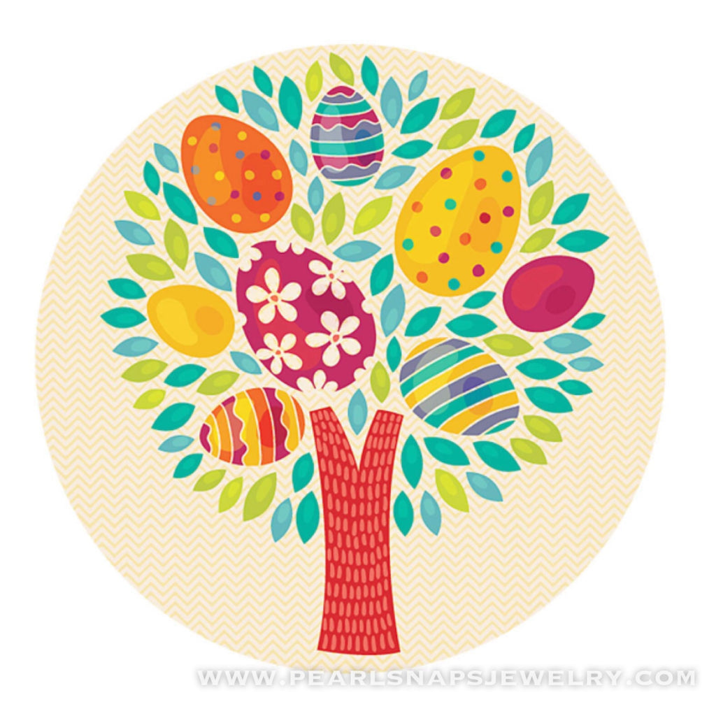Easter Egg Tree Ceramic Painted Snap