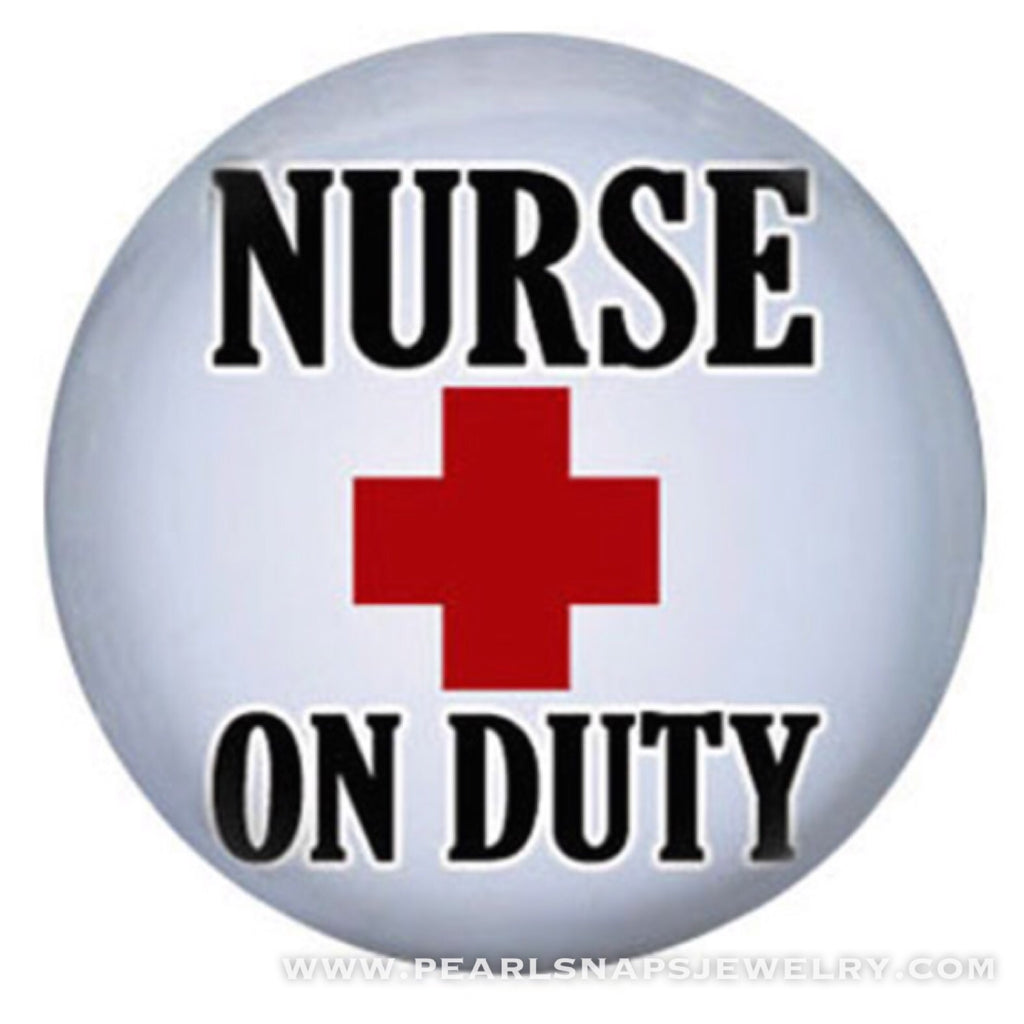 Nurse on Duty Painted Ceramic Snap