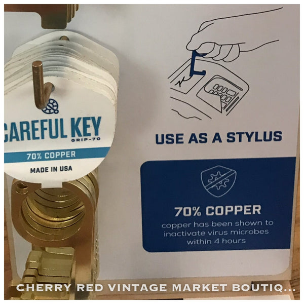 Careful Key Covid Key BRASS