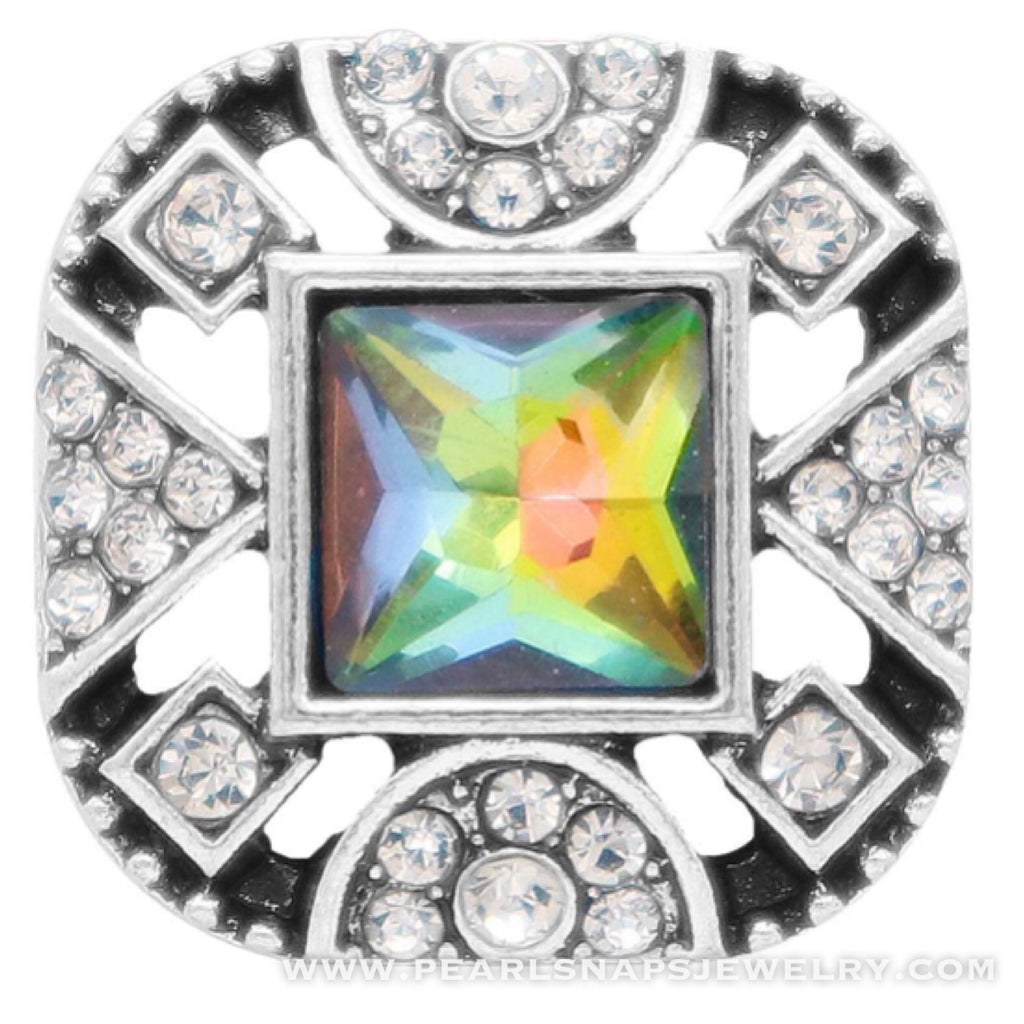 Artisan Deco Jewel Snap Mystic Black Topaz