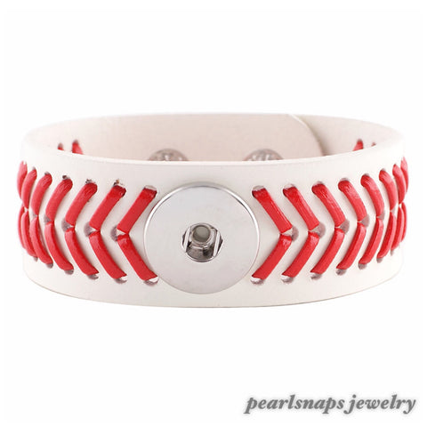 Leather Baseball Cuff