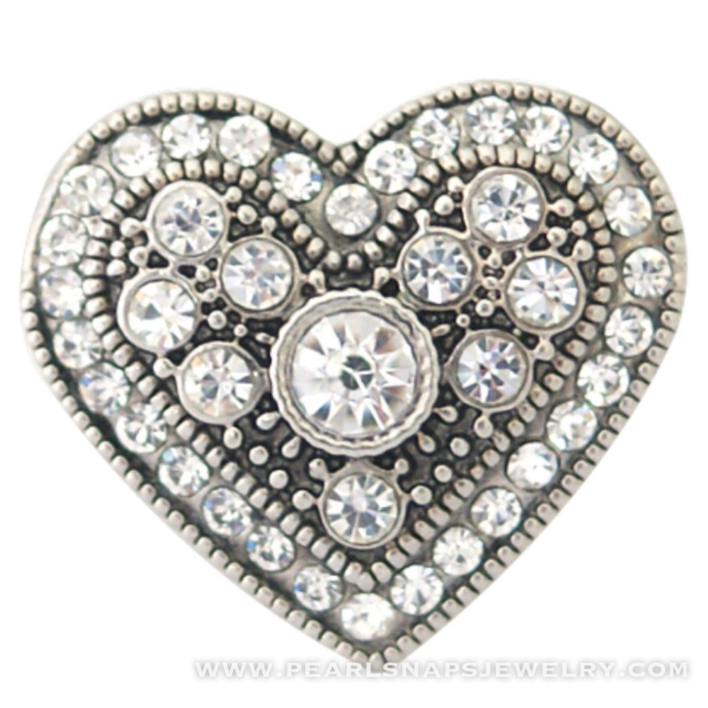 All My Love Victorian Jewel Heart White Ice