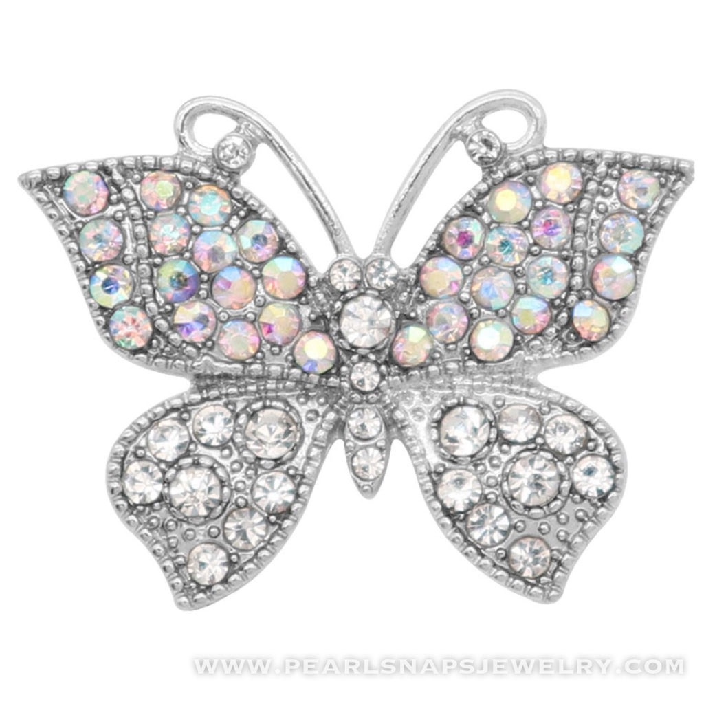 Maui Butterfly Bling Snap White Ice