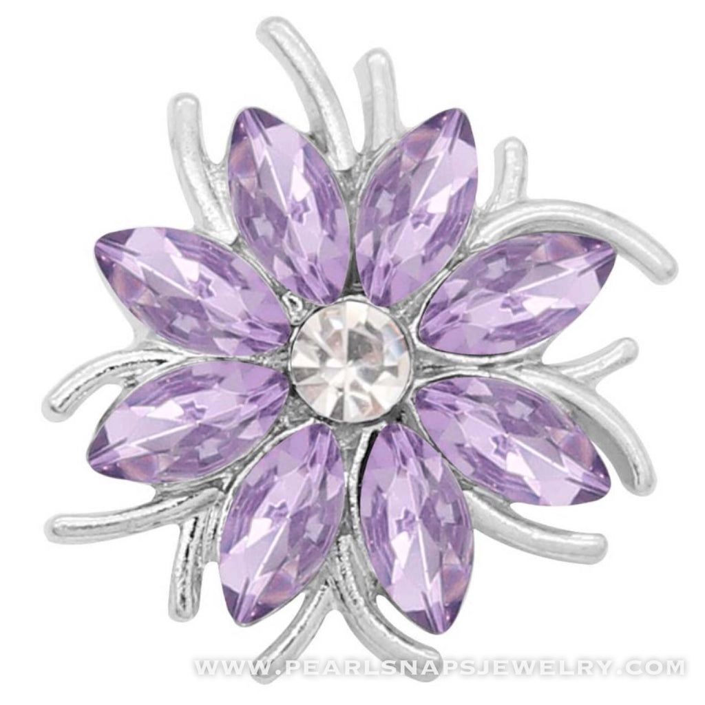 Idlewild Jeweled Floral Snap Purple