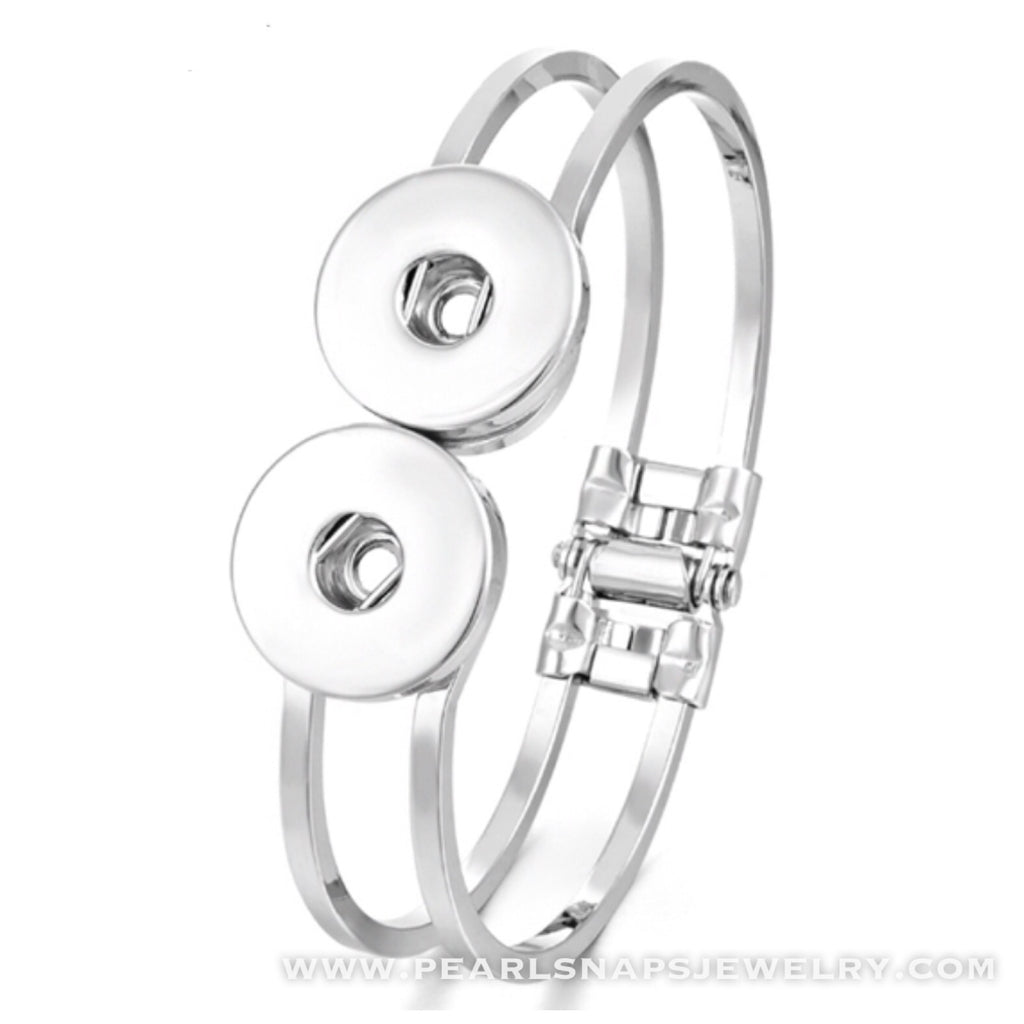 Carly Double Snap Hinged Bracelet