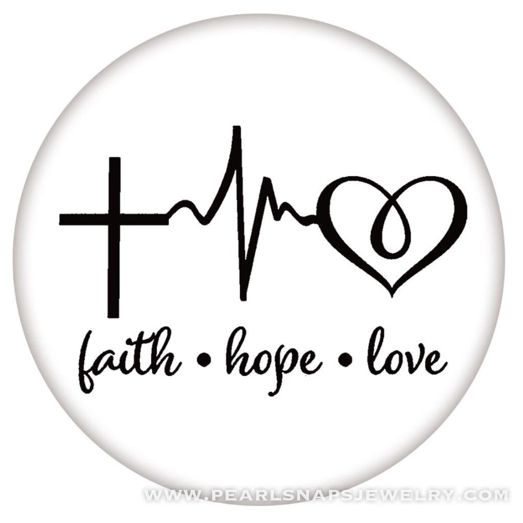 Faith Hope Love Painted Ceramic Snap