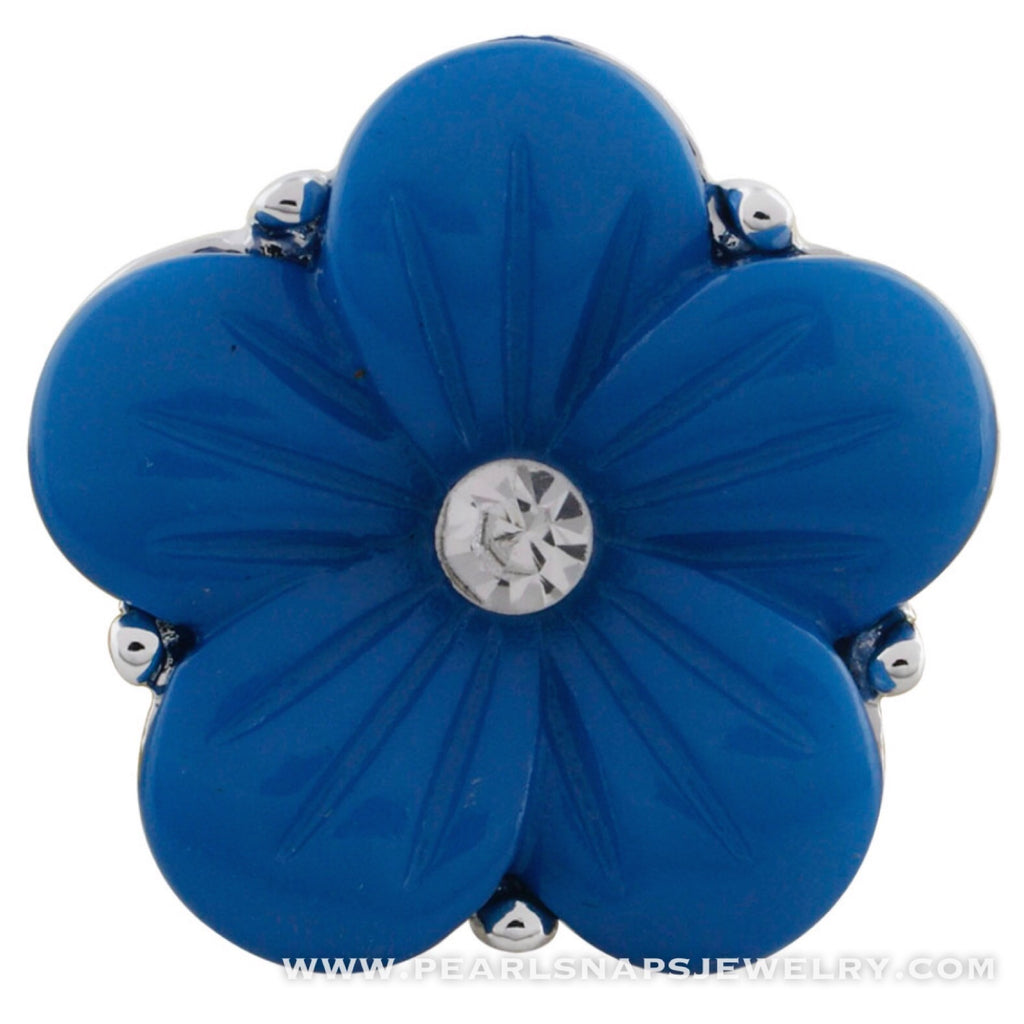 Leta's Bouquet Jewel Center Flower Snap Blue