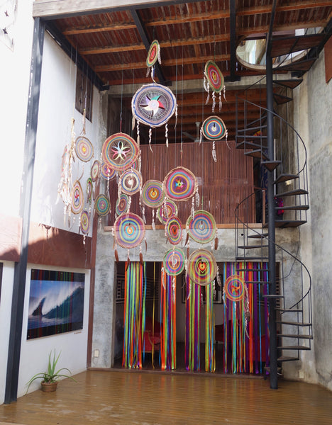 dream catchers streamers colorful sayulita