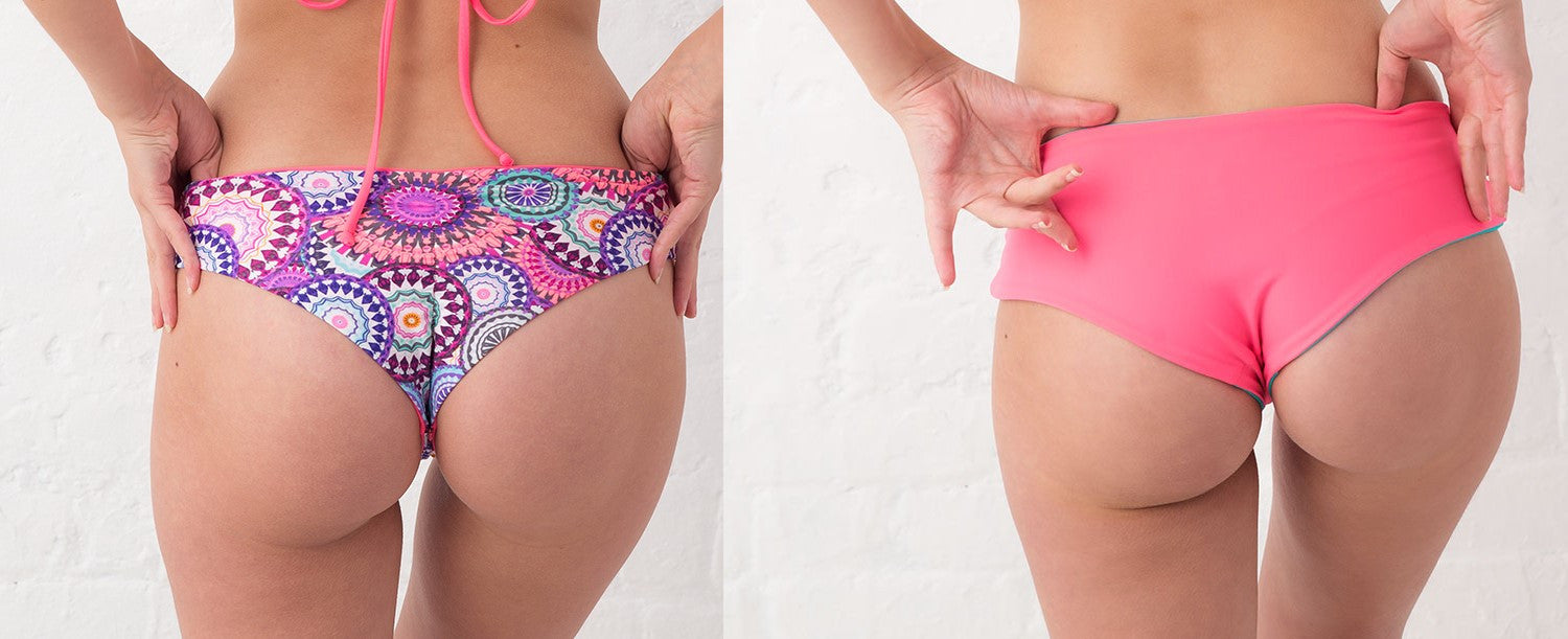 cheeky moderate coverage reversible bikini bottoms