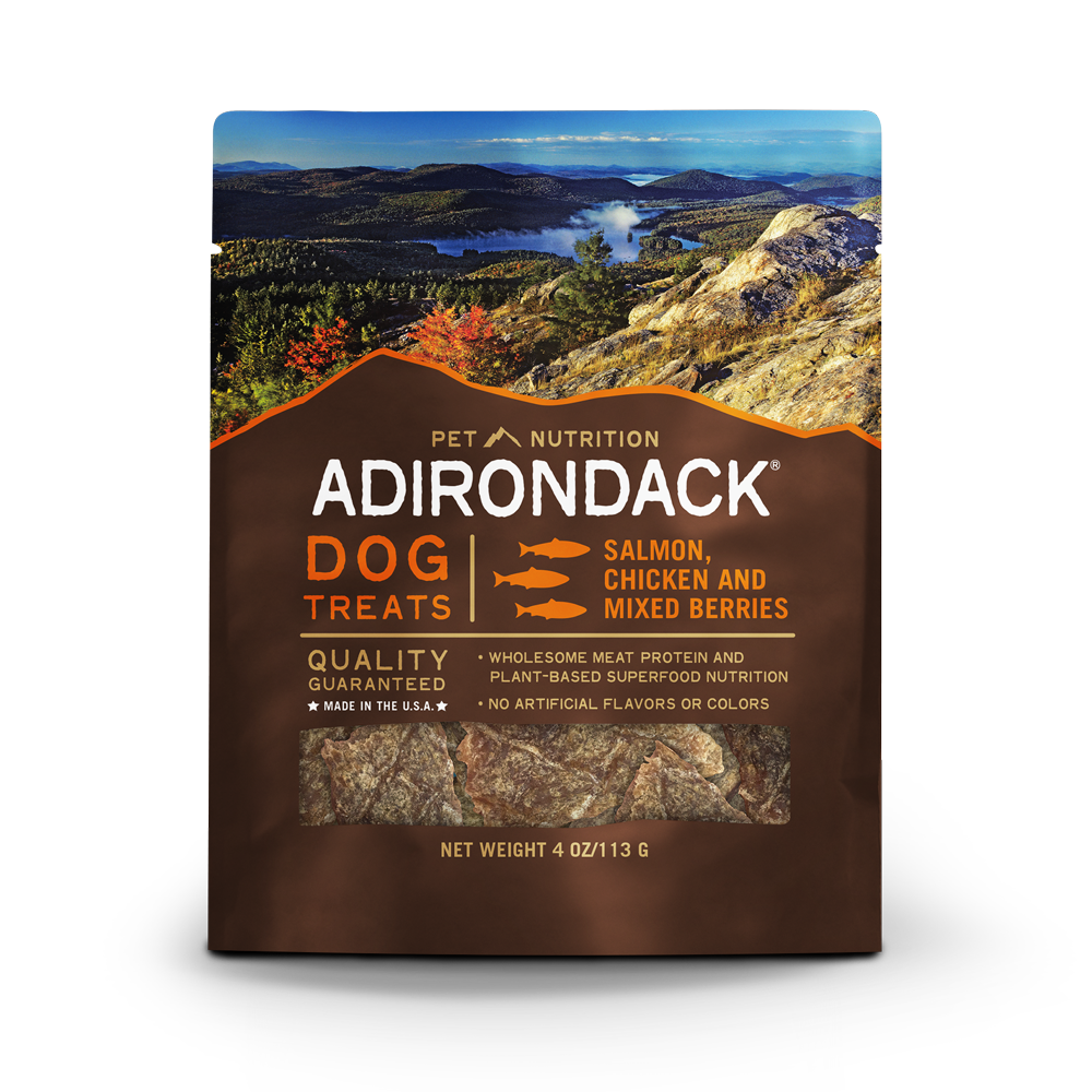 Adirondack All Life Stages, Salmon, Chicken & Mixed Berries Treats - 4oz.