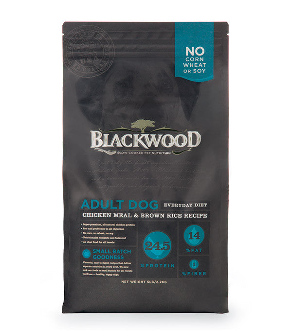 Blackwood Adult Dog, Everday Diet, Chicken Meal & Brown Rice Recipe