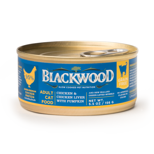 Blackwood Adult Cat Food, Grain Free, Chicken & Chicken Liver with Pumpkin Canned Recipe