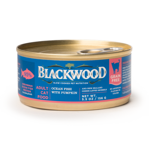 Blackwood Adult Cat Food, Grain Free, Ocean Fish with Pumpkin Canned Recipe