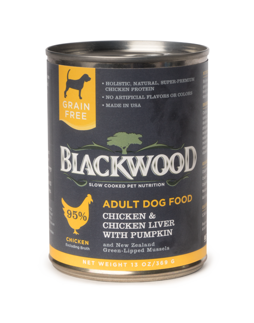 Blackwood Adult Dog, Grain Free, Chicken & Chicken Liver with Pumpkin Canned Recipe