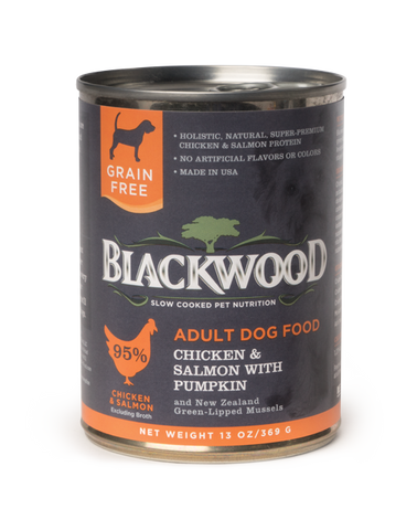 Blackwood Adult Dog, Grain Free, Chicken & Salmon with Pumpkin Canned Recipe