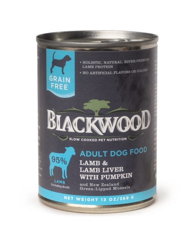 Blackwood Adult Dog, Grain Free, Lamb & Lamb Liver with Pumpkin Canned Recipe