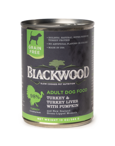 Blackwood Adult Dog, Grain Free, Turkey & Turkey Liver with Pumpkin Canned Recipe