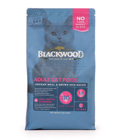 Blackwood Adult Cat, Chicken Meal & Brown Rice Recipe